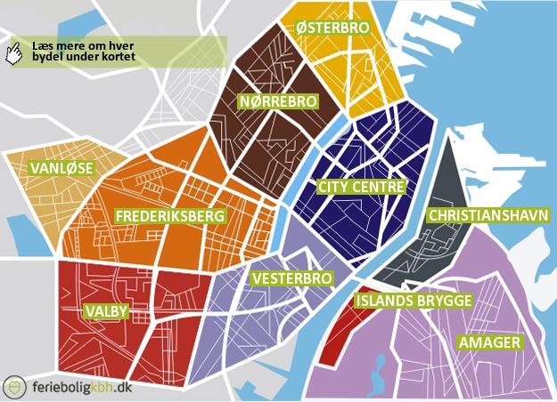 Bydele - ferielejligheder i København